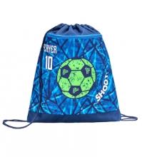 Мешок-рюкзак для обуви PLAY FOOTBALL 336-91/850 с вентилируемой сеткой и объемным карманом на молнии.