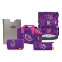 Ранец DerDieDas SuperLight Purple Princess 8403106 с наполнением 5 предметов.