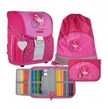 Ранец школьный MagTaller EVO Light Ballerina Pink 21917-081 с наполнением 3 предмета.