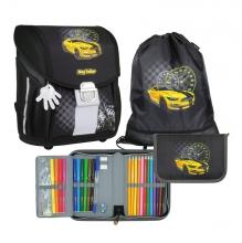 Ранец школьный MagTaller EVO Light Racing 21917-06 с наполнением 3 предмета.