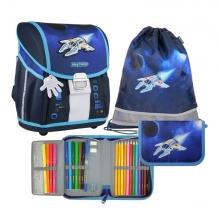 Ранец школьный MagTaller EVO Light Spaceship 21917-33 с наполнением 3 предмета.