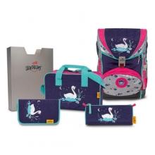 Ранец ортопедический DerDieDas SuperFlash Swan Princess - Принцесса Лебедь 8405125 с наполнением 5 предметов.
