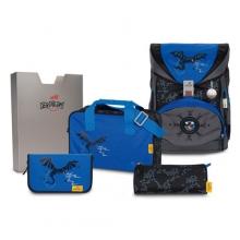 Ранец ортопедический DerDieDas SuperFlash  Blue Dragon - Синий дракон 8405126 с наполнением 5 предметов.