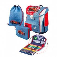 Ранец School Point 7850300-00 Racing Car с наполнением 3 предмета.