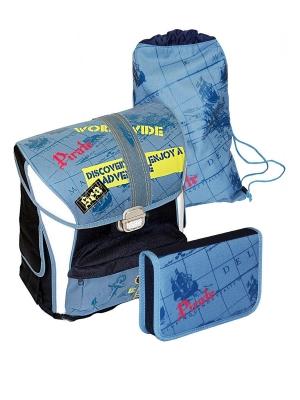 Ранец School Point 7851300-00 Pirate с наполнением 3 предмета.