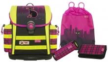Школьный рюкзак  McNeill ERGO Light 912 S DIN Streetcat- Уличный кот 4 предмета.