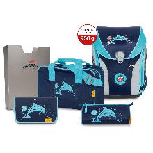 Ранец DerDieDas ErgoFlex Max с наполнением 5 предметов Glitter Dolphin - Сверкающий дельфин 8408116.