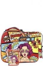 Школьный ранец Noble People с наполнением 4 предмета Комикс WT16SET.