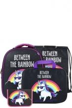 Школьный ранец Noble People с наполнением 4 предмета Unicorn WT39/19SET.