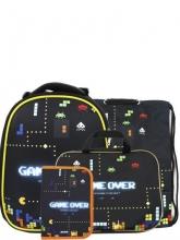 Школьный ранец  Noble People с наполнением 4 предмета Game over WT79/19SET.