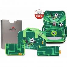 Ранец DerDieDas Ergoflex с наполнением 5 предметов Green Goal - Футбол на траве 8405134.
