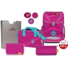 Ранец DerDieDas Ergoflex Buttons Boho - Розовый стиль с наполнением 6 предметов 8405139.
