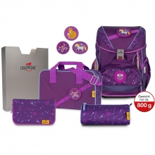 Ранец DerDieDas Ergoflex Buttons Nature Love - Фиолетовая сказка с наполнением 6 предметов 8405136.