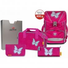 Ранец DerDieDas Ergoflex с наполнением 5 предметов Mariposa - Прекрасная бабочка 8405131.