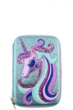 Пенал для девочки Multibrand голубой TX069-light-blue